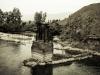 Алтай, поселок Мульта, бывший мост через реку