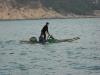 Рыбак выходит в Китайское море в Шеньчжэне