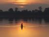 Камбоджа, восход над озером