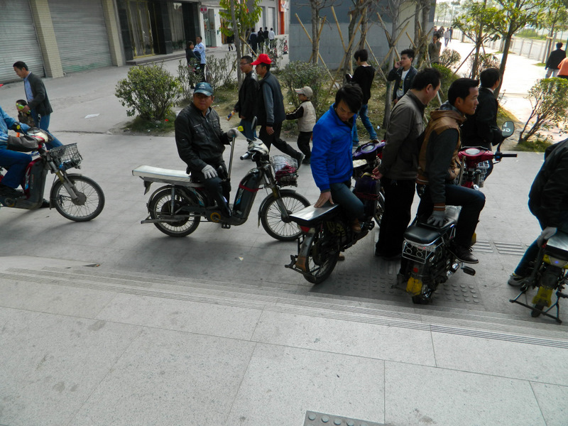 Китай, Шеньчжень. Мототакси