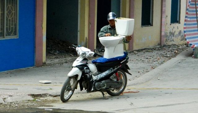 Вьетнам. Мотобайк. Перевозка ваз