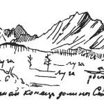 Зарисовки И. Д. Черского в путевых заметках, сделанных во время экспедиций