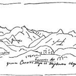 Вид на долину реки Саган-хайр (приток Китоя) с верхнего озера