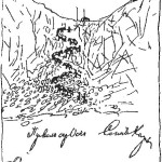 Подъём вьючных лошадей на перевал Оспип-Дабан с верховьев реки Оспы к реке Саган-хайр