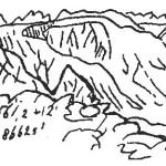 Вид с северного склона Китойских гольцов на долину верховьев реки Оспы