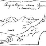 Вид из долины реки Китойкин (ворота Нилан-Сарама) на Китойские гольцы
