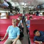 Павел в индонезийском поезде