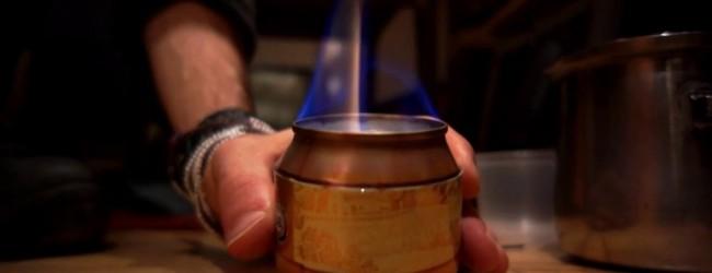 Как из алюминиевой банки сделать горелку?