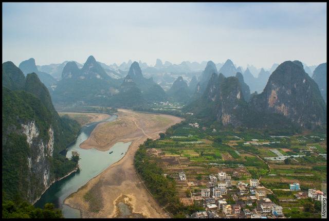 Виды с вершины Лао Чжай Шань