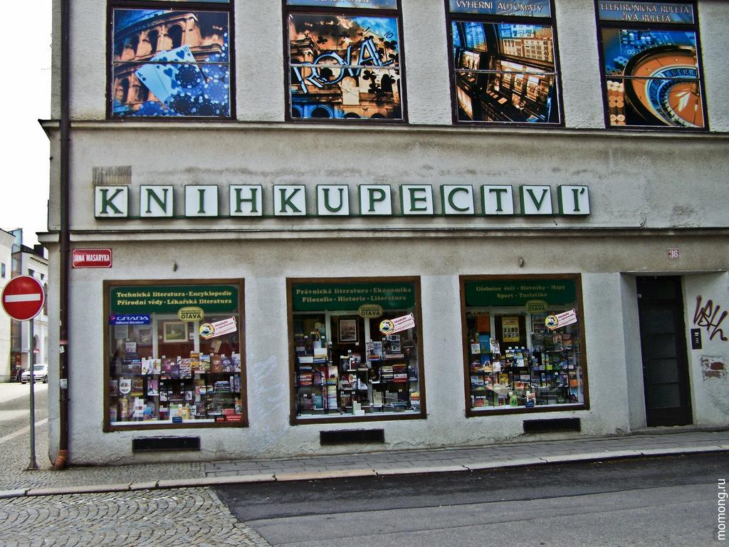 Книжный магазин в Чехии. Чешский язык