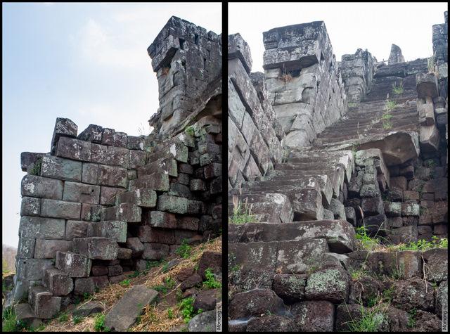 Старая каменная лестница вела на вершину пирамиды Пранг (Пирамиду Смерти)